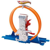 Hot Wheels Pista Constructor Deluxe Kick Quick Loop Stunt Se