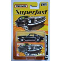 Ford Mustang 428 Color Negro Seríe Superfast Matchbox