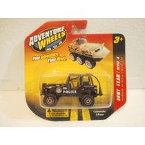 Adventure Wheels Camioneta Jeep Negro Policia 1:64