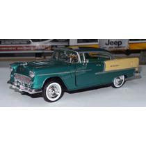 1:24 Chevrolet Bel Air 1955 Verde Motor Max Display