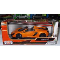 1:24 Mclaren 650s Spider Naranja Motor Max C Caja