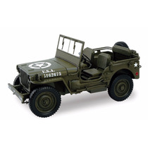 Jeep Willys 1/4 Ton Us Army Truck Ww2 1/18 Norev