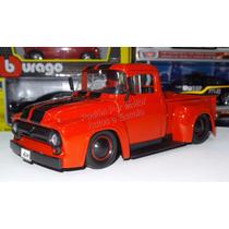 1:24 Ford F-100 Pick Up 1956 Rojo Jada C Rines Extra