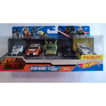 Hot Wheels Star Wars Set R2 D2 Yoda Darth Vader Set 5 Pieza