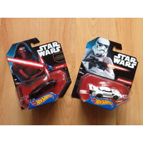 Set 2 Hot Wheels Star Wars Force Awakens Kylo Ren Trooper