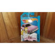The Simpsons Los Simpsons El Auto Rosa De Homero Hot Wheels