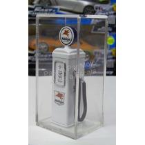 1:18 Bomba De Gasolina Metalica Mobilgas Plata Diorama