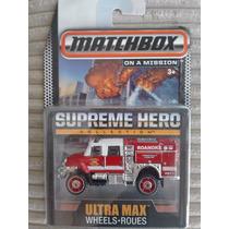 Matchbox Supreme Hero Goma International Workstar Bomberos