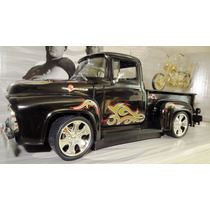Ford F100 Black & Moto American Chopper Orange County 1/18