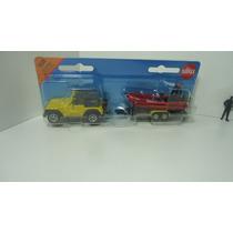 Jeep Remolque Lancha Siku Promoción,ganalo...!!!