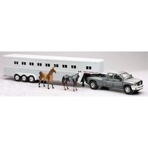 Trailer Camion Dodge Ram Remolque Caballos Esc 1:32