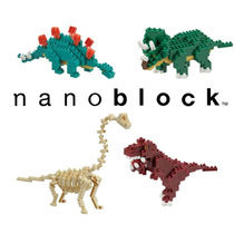 Set De 4 Figuras Armables, Nanoblock Dinosaurios
