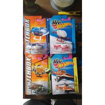 Hotwheels Lote De 4 Helicopteros De Super Colección Ganalos