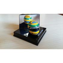 Casco Ayrton Senna F1 Escala 1:12 Marca Onix Coleccionistas