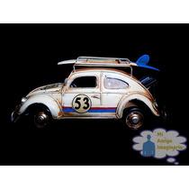 Vocho Escala Volkswagen Vintage Metal Retro Portaretrato
