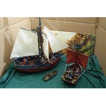 Lee Anun Lote 2 Barco Pirata C Jack Sparrow & 11 Figura 1/32