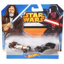 Set 2 Autos Hot Wheels Star Wars Obi-wan Darth Vader Epicus