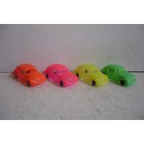 Vw Beetle Vocho Set De 4 - Carrito D Plastico Juguete Escala