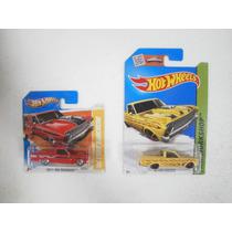Hot Wheels Set 2 Camionetas 65 Ford Ranchero Rojo Y Amarillo