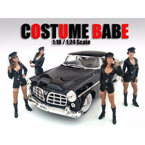 Sexy Policias Costume Babe Diorama 1/18 American Diorama