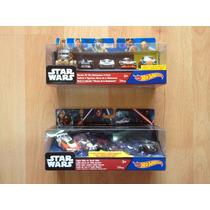 2 Sets De 5 Autos C/u Hot Wheels Star Wars The Force Awakens