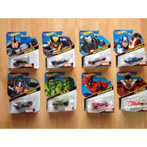 Set De 8 Hot Wheels Super Héroes Blister Americano