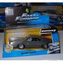 1:32 Dodge Charger 1968 Plata Rapido Y Furioso Jada C Caja