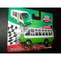 Gcg Camion Micro Verde Taxi Mania Mexico Retro