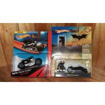 Hot Wheels Batman Bat Pod Batcycle Batimoto Set 2 Piezas