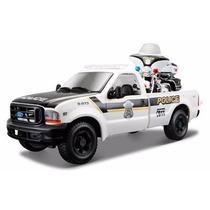 Ford F350 Police, Escala 1:24, Harley Davidson Police Moto