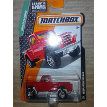 Matchbox Jeep Willys 4x4 Camioneta Roja