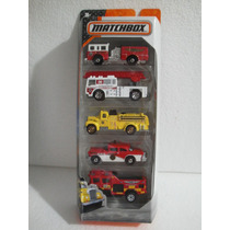 Matchbox 5 Pack Bomberos Mission Camion Carro 1:64