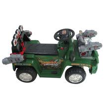Carro Tanque Eléctrico Montable Para Niños De 3 A 8 Años