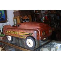 Antiguo Carro De Pedales Bomberos