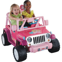Power Wheels Jeep Barbie Montable Electrico 12 V. Sonidos