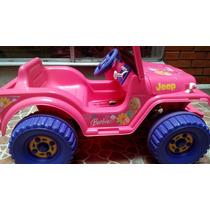 Jeep Electrico Barbie En Su Caja Seminuevo