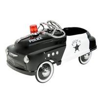 Carrito Carro De Pedales Tipo Antiguo De Policía Retro