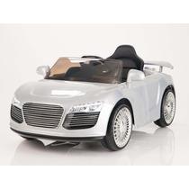 Carrito Electrico Audi R8 Plata Control Remoto Mp3 Luces