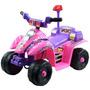 Carrito Montable Para Niñas Princess Rosa Baterias Atv 6v