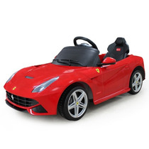 Carrito Bateria Licencia Ferrari F12 Rojo Mp3 Luces Rojo