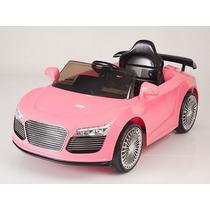Carrito Electrico Audi R8 Rosa Control Remoto Mp3 Luces