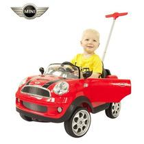 Mini Cooper Prinsel Con Baston Para Empujar