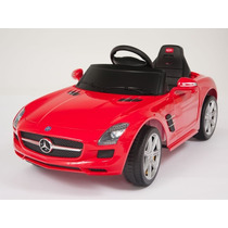 Carrito Electrico Mercedes Benz Sls Rojo Bateria Luces Mp3