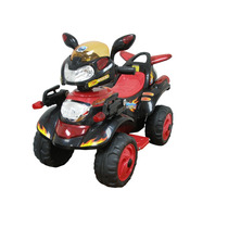 Cuatrimoto Sport Negra Electrica Infantil Mp3-in Luces Hwo