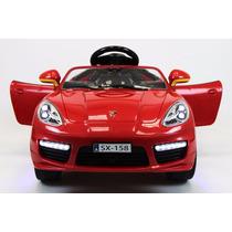 Carrito Electrico Porsche Boxster Rojo Con Control Remoto
