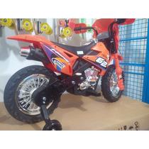 Moto De Motocross Motorizada Para Niños Con Luces Y Sonido