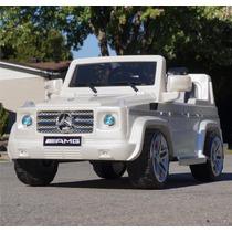 Carrito Electrico Mercedes Benz G55 Blanco Control Remoto