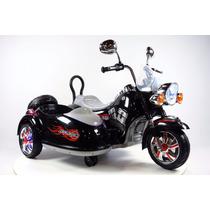 Moto Electrica De Bateria Con Sidecar Estilo Clasico Niños