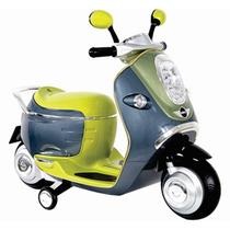 Moto Montable Electrico 3-5 Años Luz Sonido Scooter Motoneta
