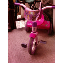 Triciclo Trixie Medio Uso Llantas De Goma Agarradera Y Bolsa